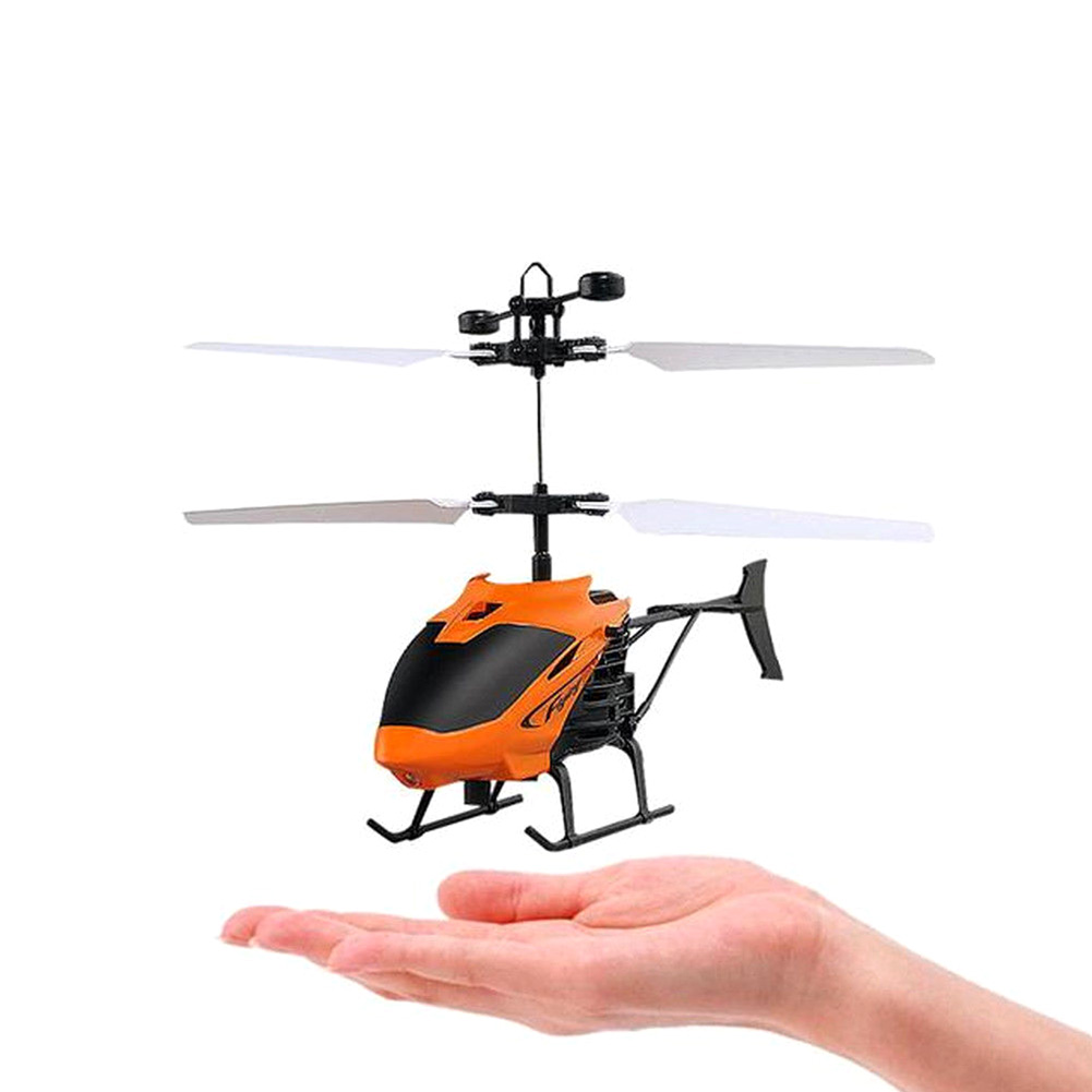 Mini Helicopter Induction Aircraft Remote Control RC Drone W//Flash Light//